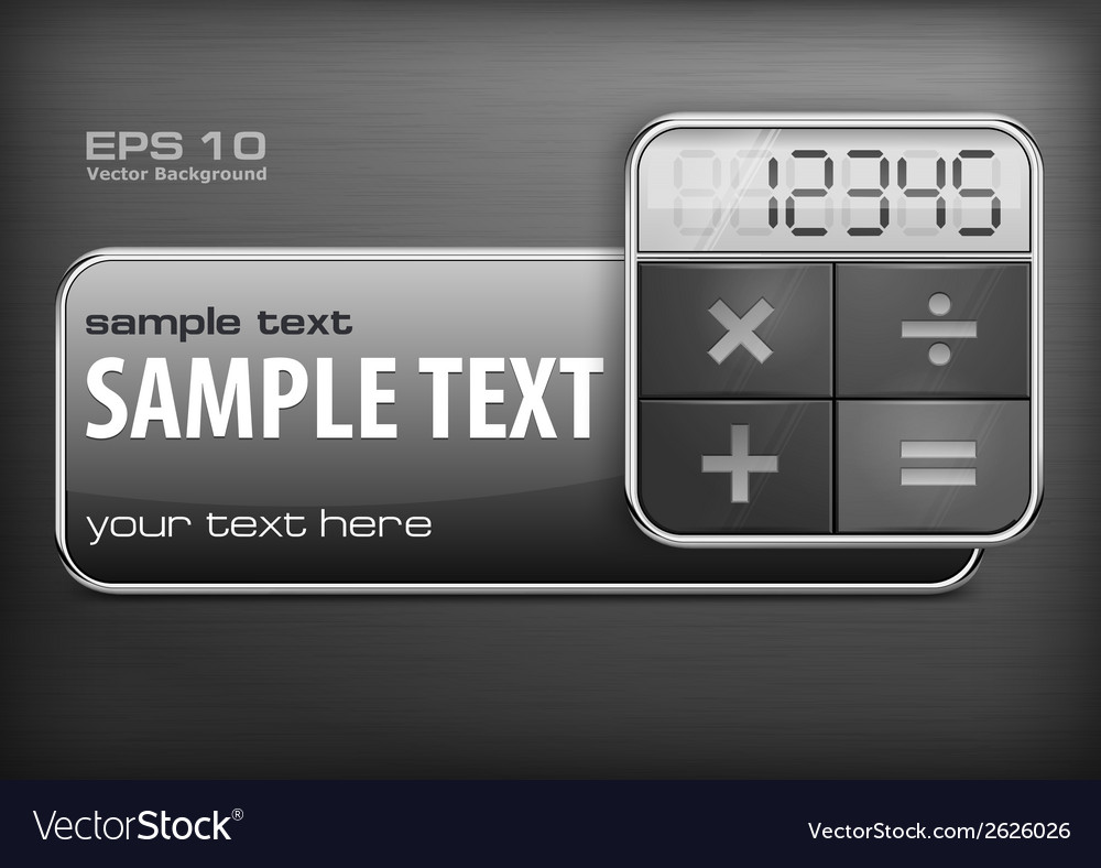 Promotion banner  calculator vector | Price: 1 Credit (USD $1)