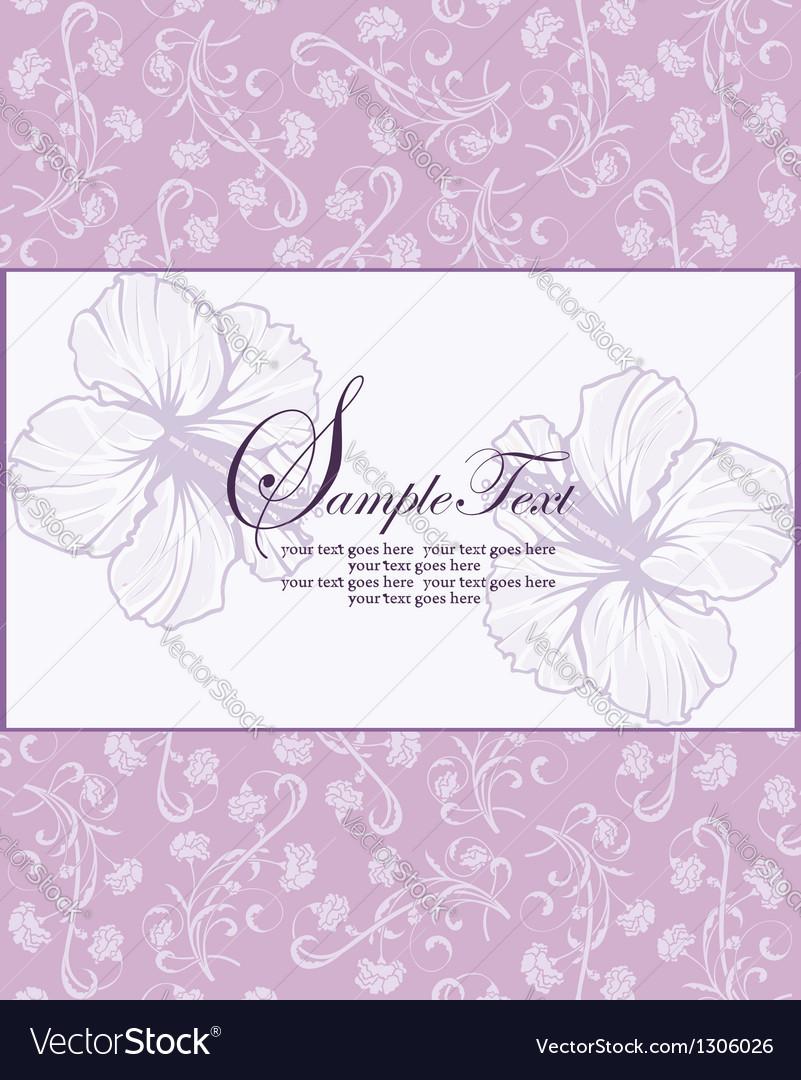 Purple floral invitation vector | Price: 1 Credit (USD $1)