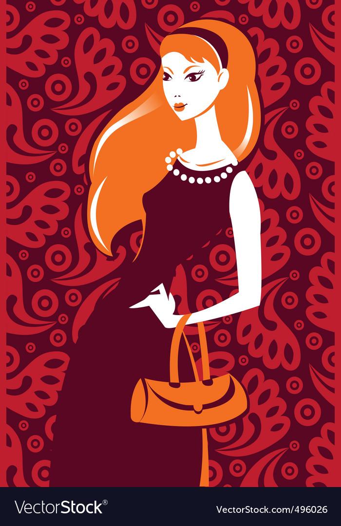Stylish girl vector | Price: 1 Credit (USD $1)