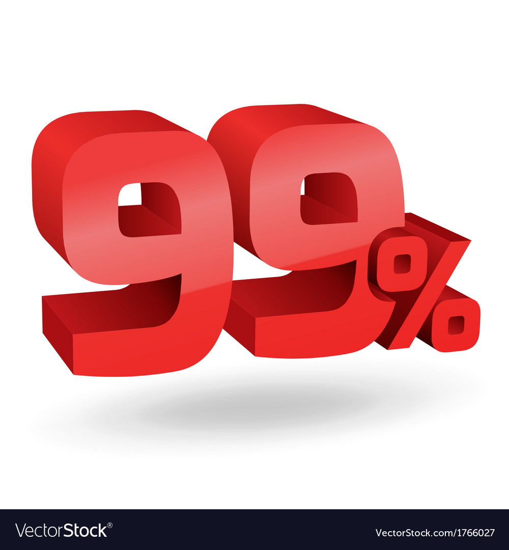 99 percent digits vector | Price: 1 Credit (USD $1)