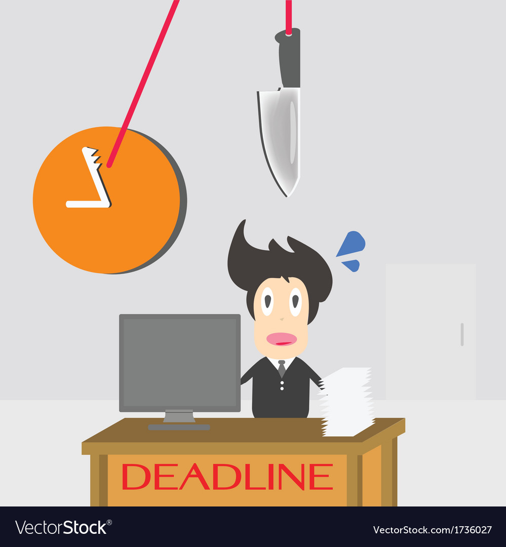 Businessman time deadline vector | Price: 1 Credit (USD $1)