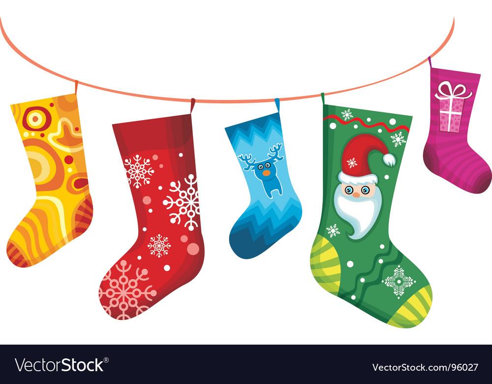 Christmas stocking vector | Price: 1 Credit (USD $1)