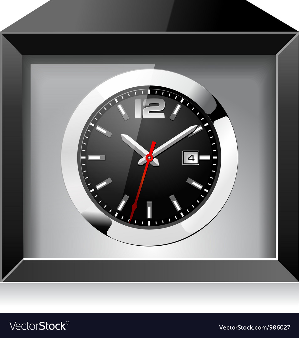 Clock in the black box vector | Price: 3 Credit (USD $3)