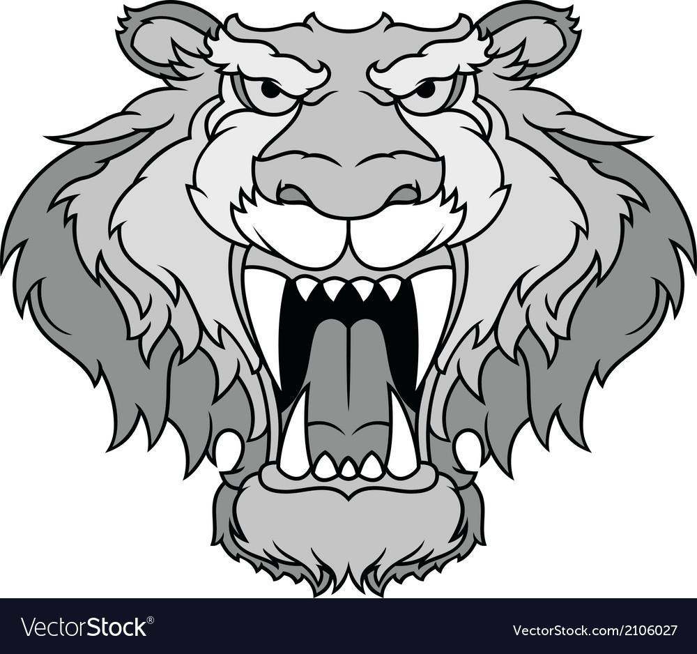Gray beast vector | Price: 1 Credit (USD $1)