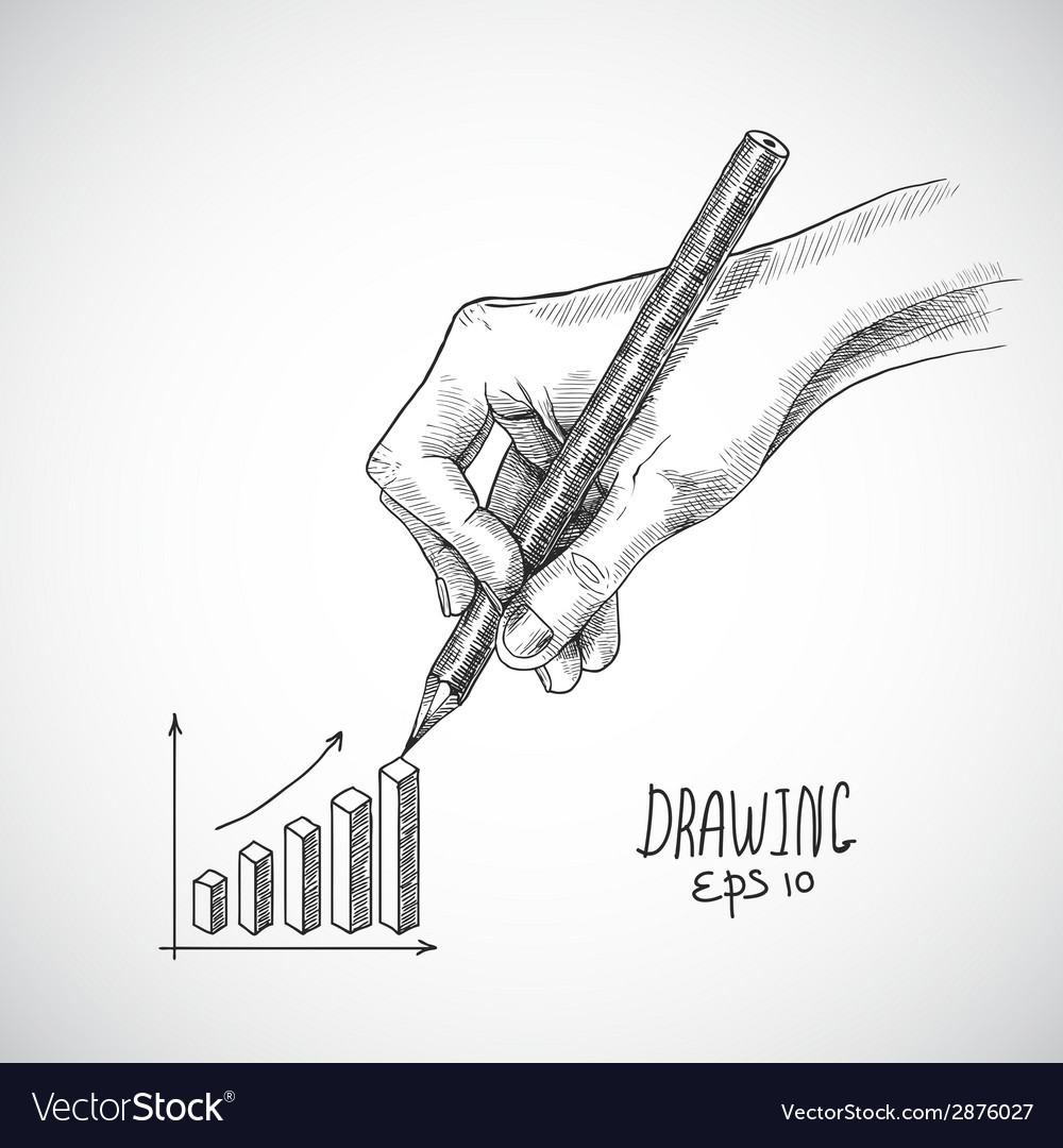 Hand drawing graph vector | Price: 1 Credit (USD $1)