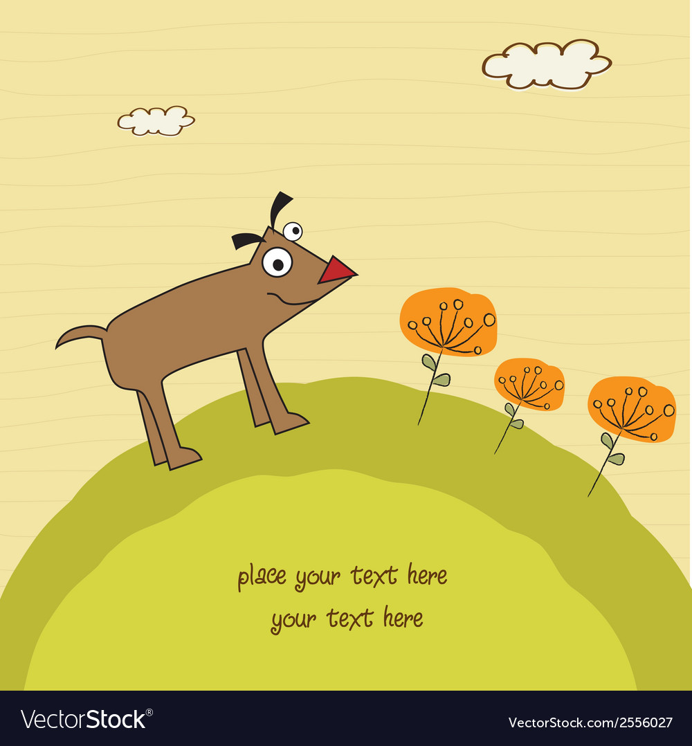 Happy little cute dog vector | Price: 1 Credit (USD $1)
