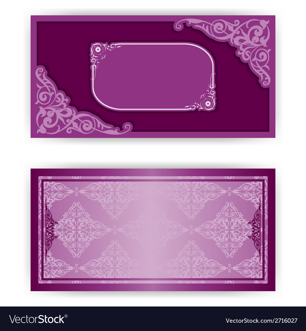 Paper horizontal invitation card vector | Price: 1 Credit (USD $1)
