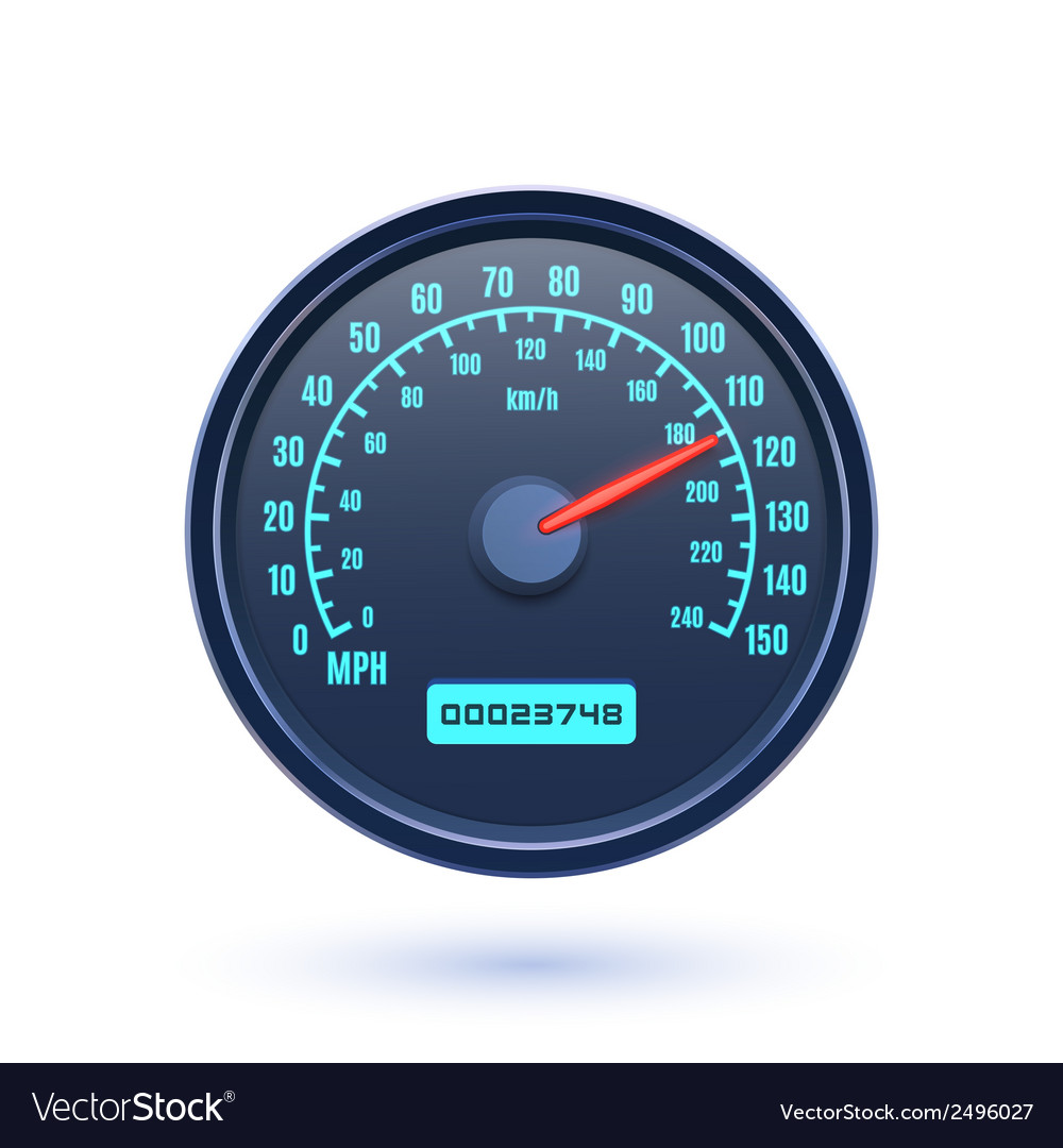 Speedometer icon isolated on white background vector | Price: 1 Credit (USD $1)