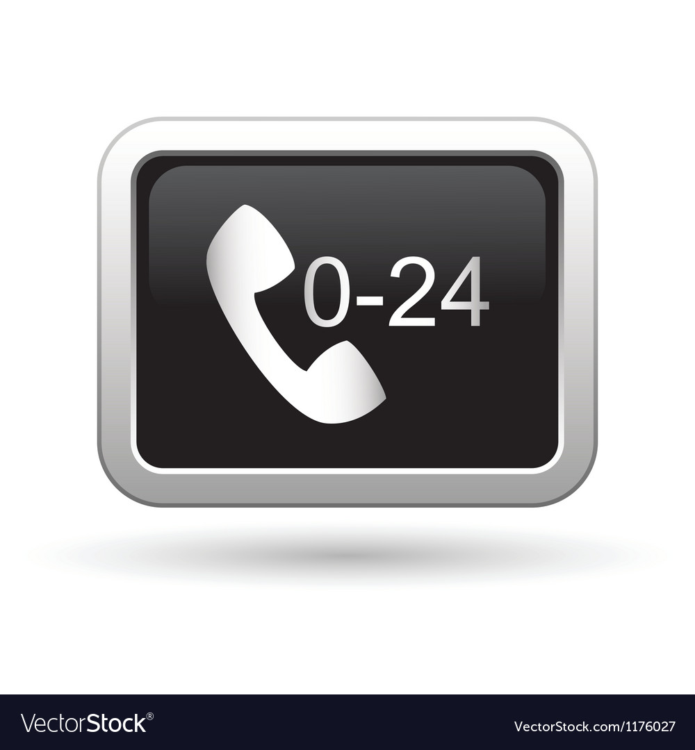 Support center call 24 hours icon vector | Price: 1 Credit (USD $1)