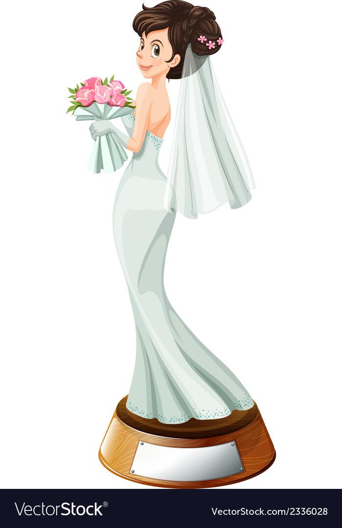 A bridal trophy vector | Price: 1 Credit (USD $1)