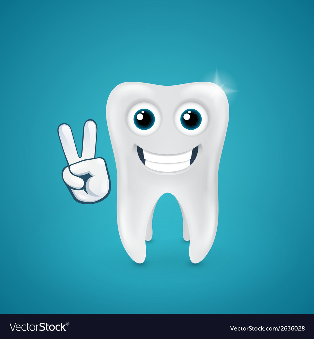 Beauty and happy human tooth vector | Price: 1 Credit (USD $1)