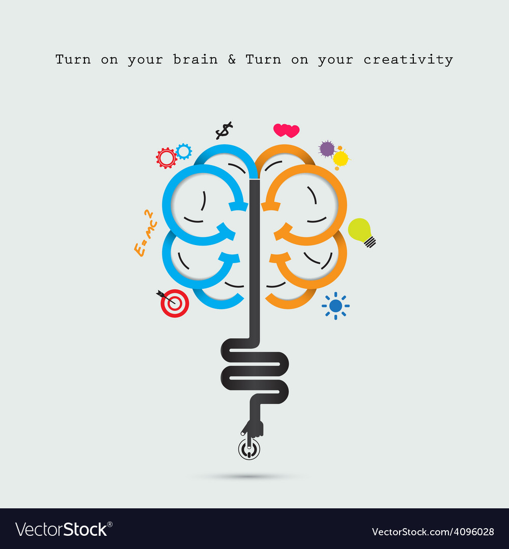 Creative brain abstract logo design templat vector | Price: 1 Credit (USD $1)