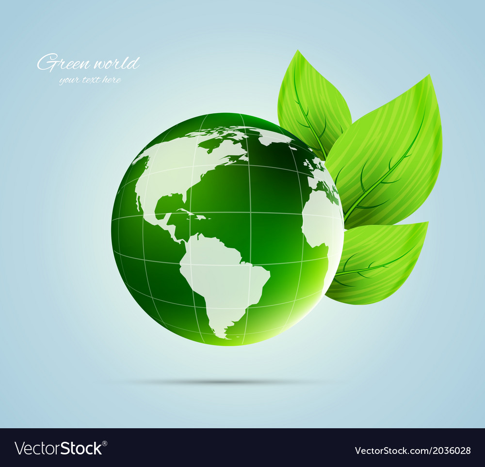 Green concept vector | Price: 1 Credit (USD $1)