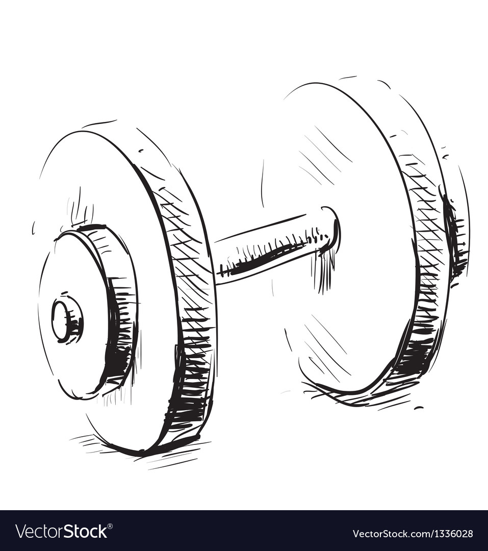 Gum weight dumbbell cartoon icon vector | Price: 1 Credit (USD $1)