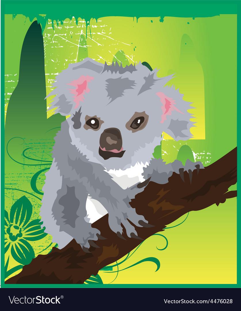 Koala cartoons vector | Price: 1 Credit (USD $1)
