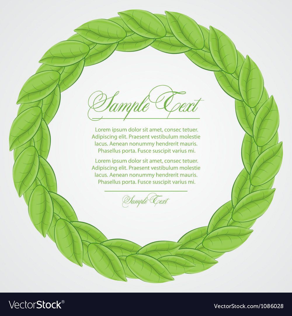 Laurel wreath sign vector | Price: 1 Credit (USD $1)