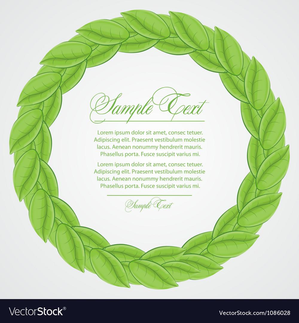 Laurel wreath sign vector | Price: 1 Credit (USD $1)
