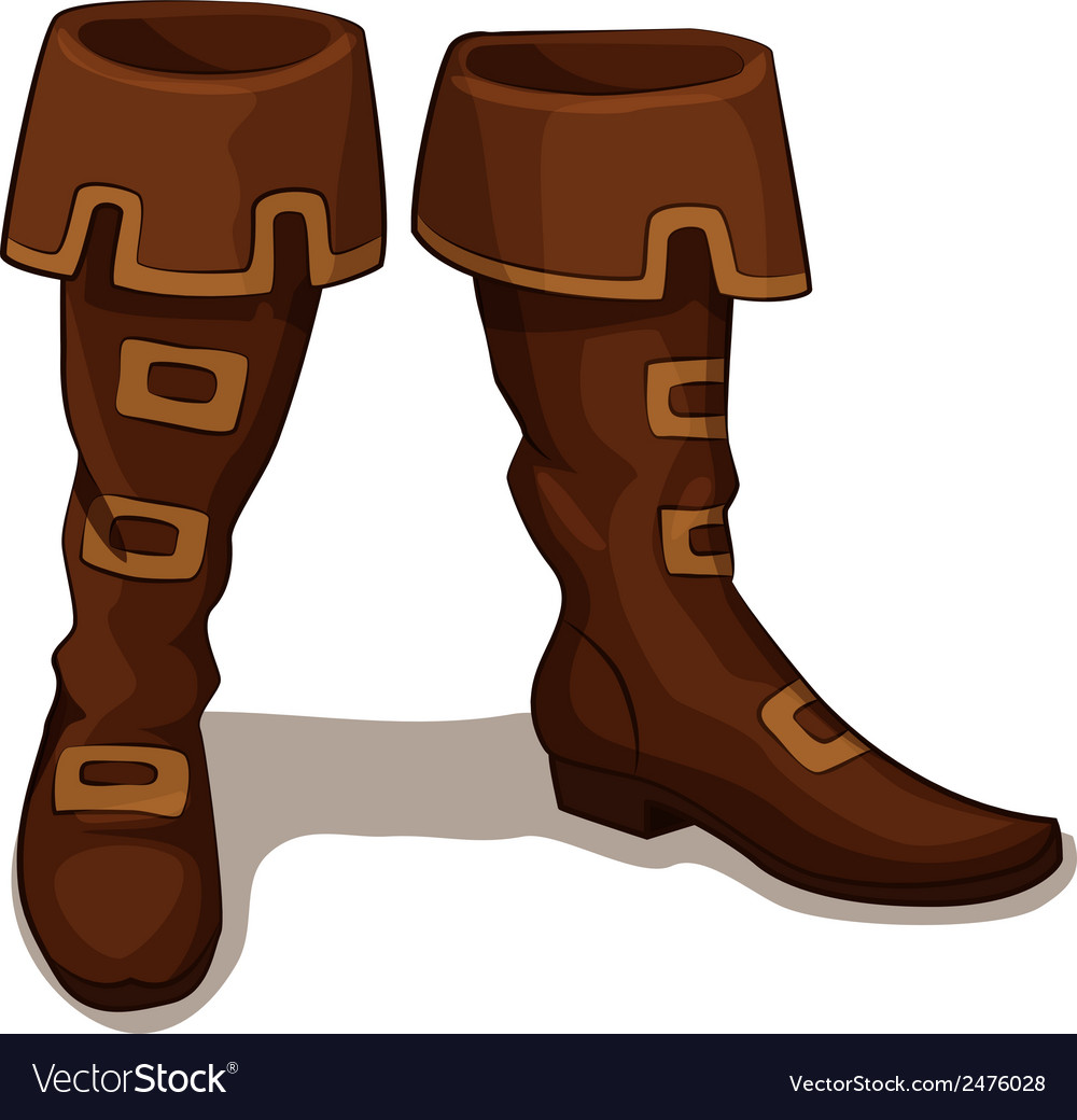 Leather boots vector | Price: 1 Credit (USD $1)