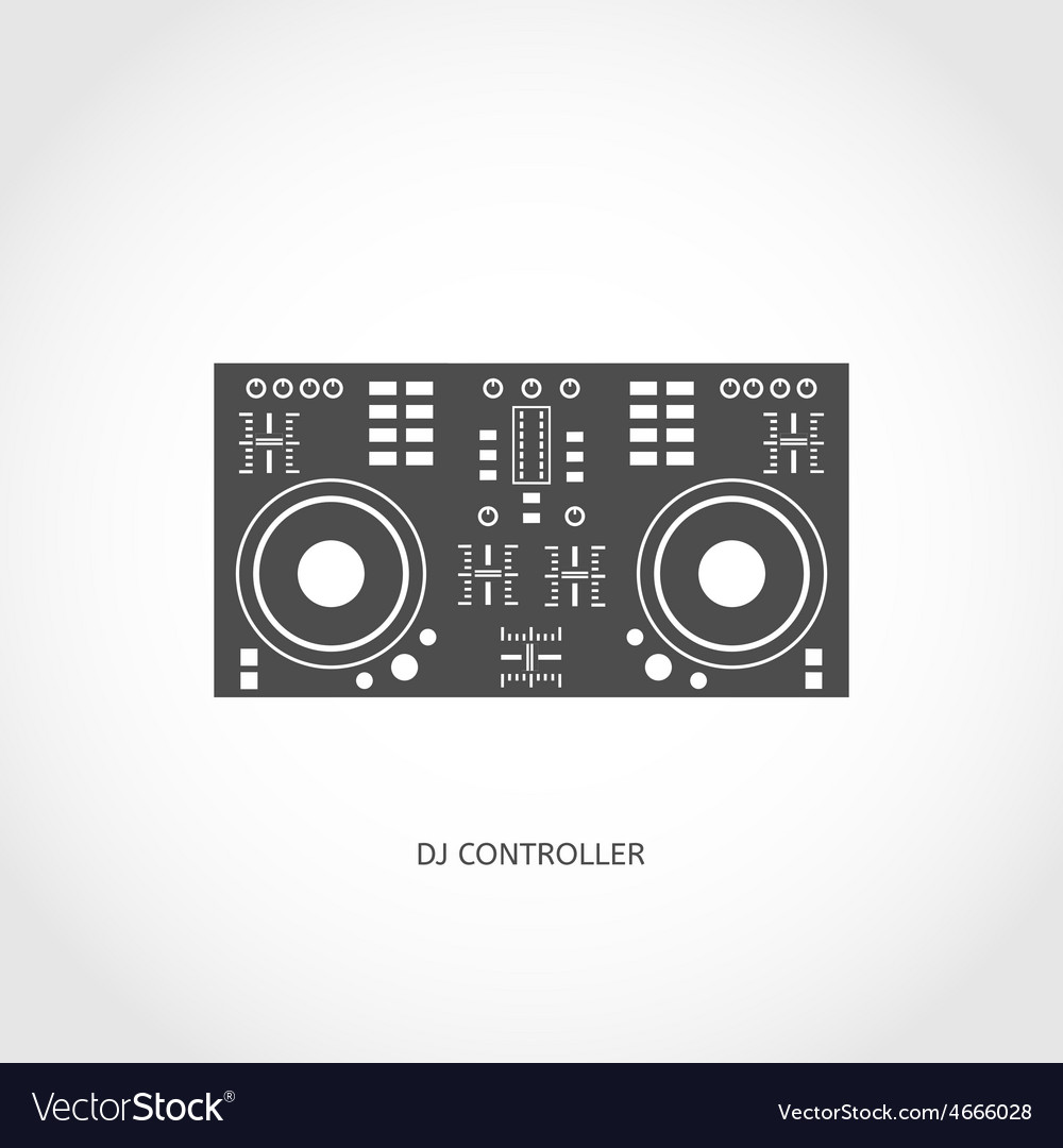 Musical instrument mixing console flat icon vector | Price: 1 Credit (USD $1)