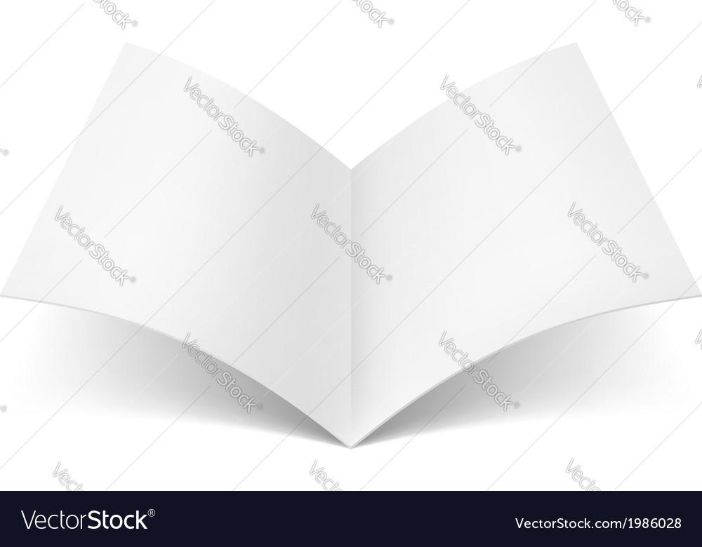 Open blank book vector | Price: 1 Credit (USD $1)
