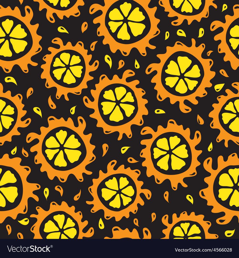 Organic food background oranges seamless pattern vector | Price: 1 Credit (USD $1)