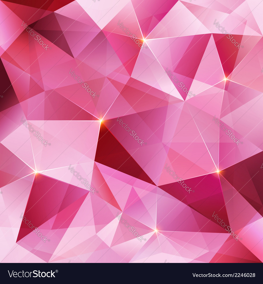 Pink crystal abstract background vector | Price: 1 Credit (USD $1)
