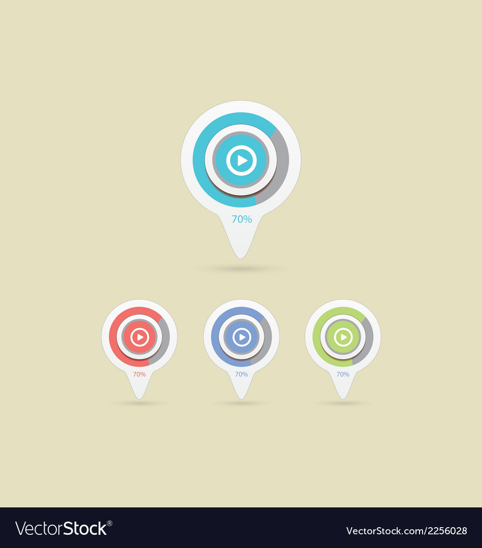 Pointer play icon vector | Price: 1 Credit (USD $1)