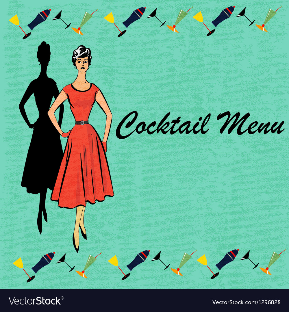 Retro cocktails vector | Price: 1 Credit (USD $1)