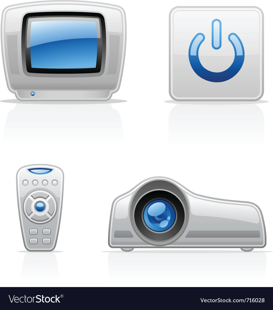 Tv video icons vector | Price: 3 Credit (USD $3)