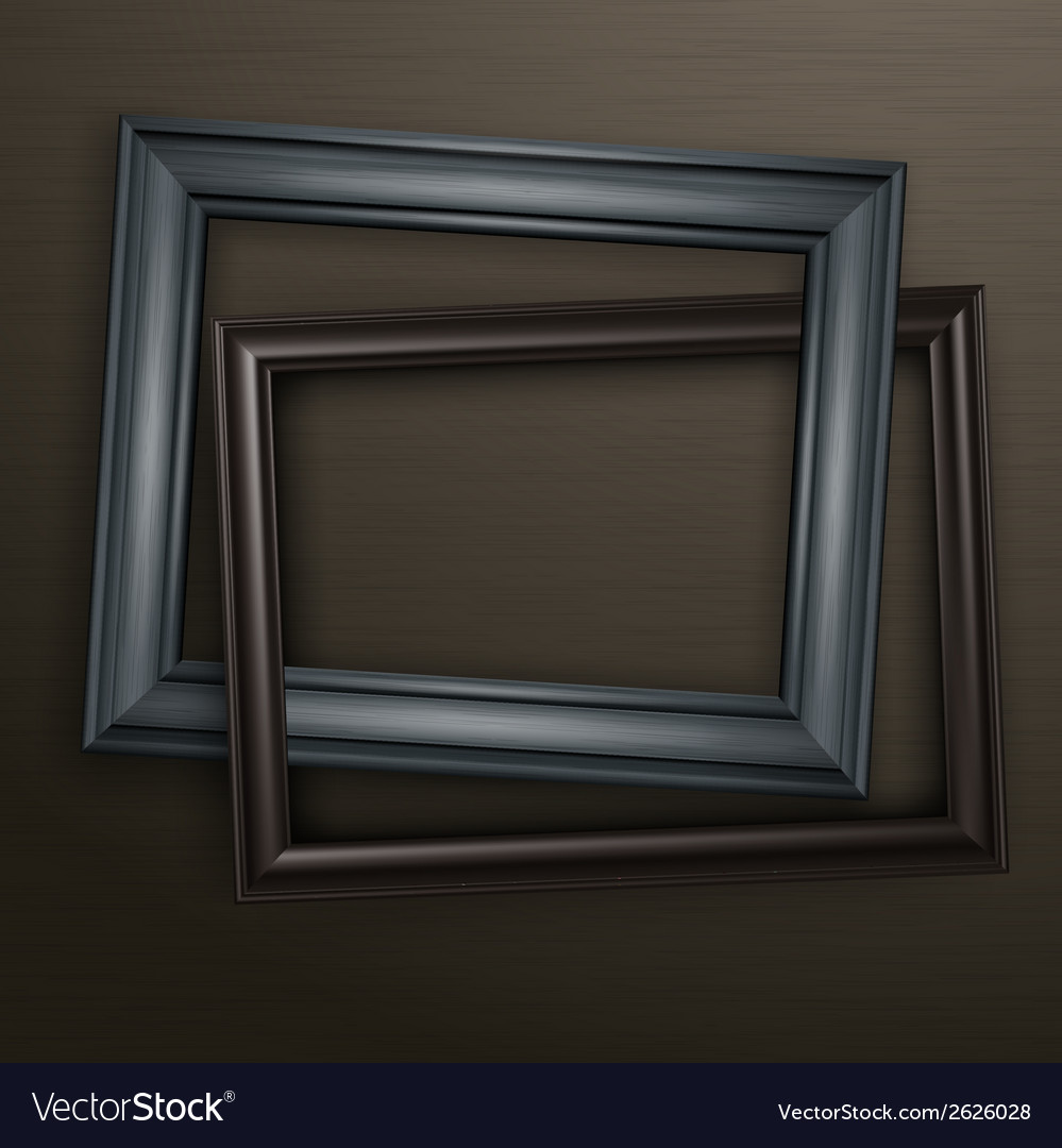 Two wooden black frames vector | Price: 1 Credit (USD $1)