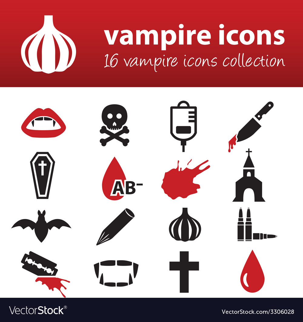 Vampire icons vector | Price: 1 Credit (USD $1)