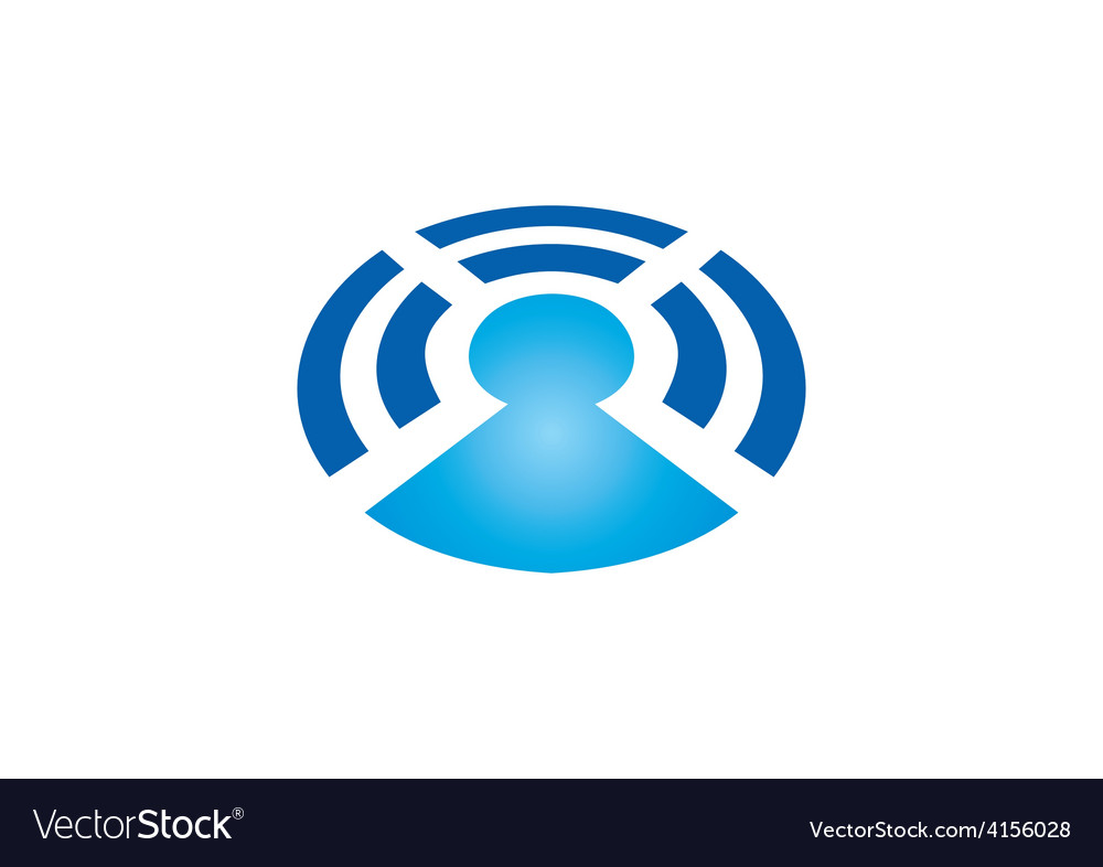 Wireless bluetooth people communication logo vector | Price: 1 Credit (USD $1)