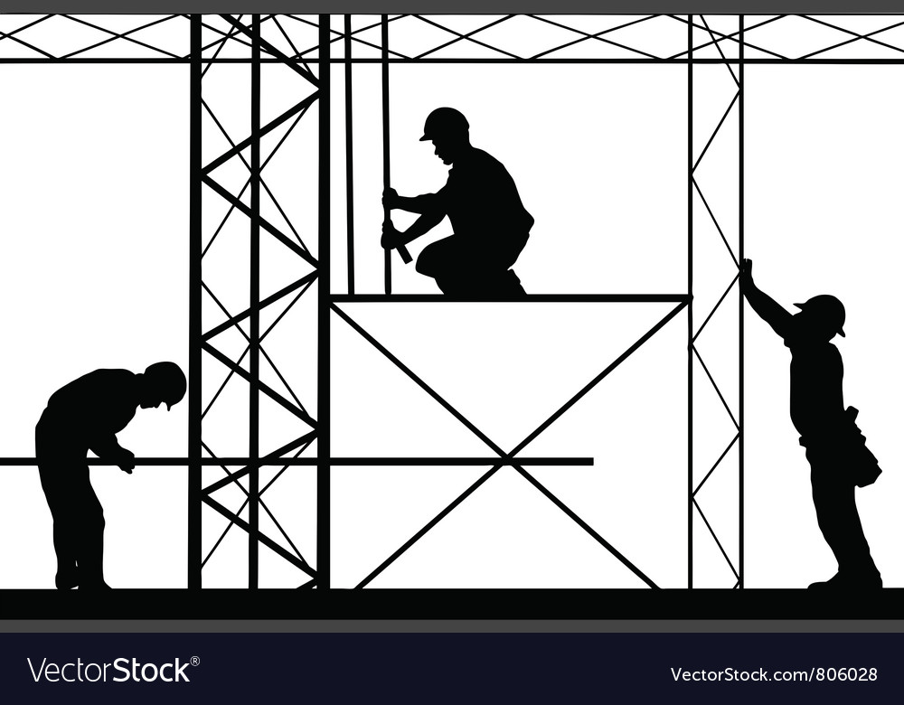 Workers on site vector | Price: 1 Credit (USD $1)