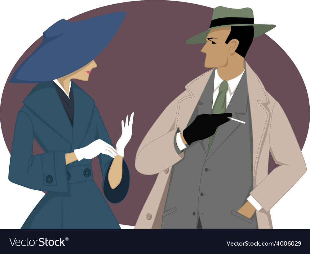 1950s couple vector | Price: 1 Credit (USD $1)