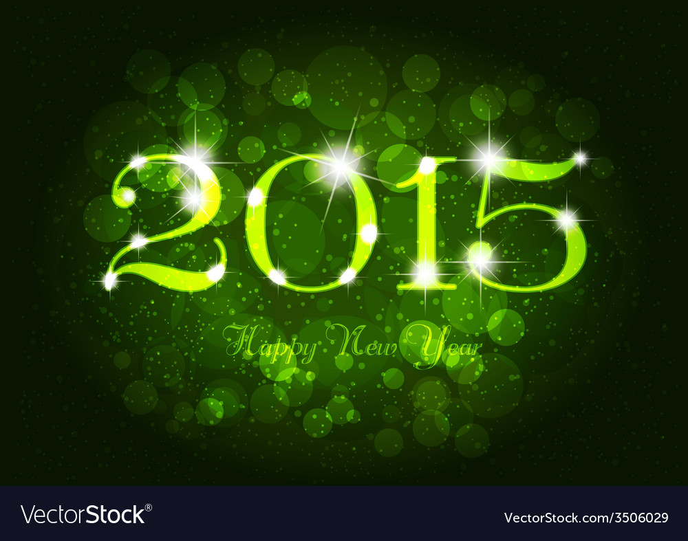 Happy new year abstract green light vector | Price: 1 Credit (USD $1)