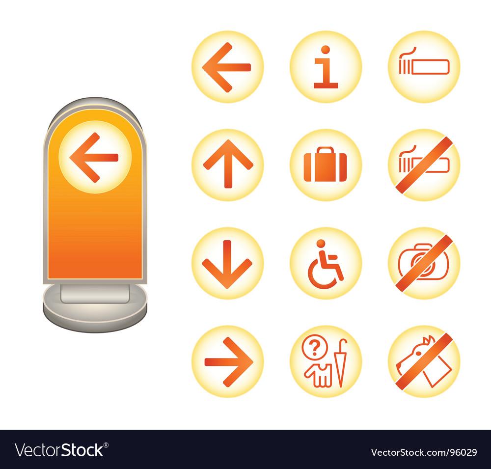 Information signs  juicy series vector | Price: 1 Credit (USD $1)