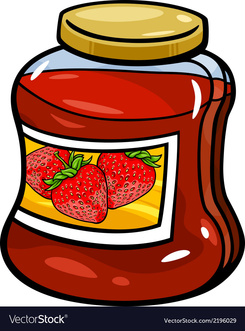 Jam in jar cartoon vector | Price: 1 Credit (USD $1)