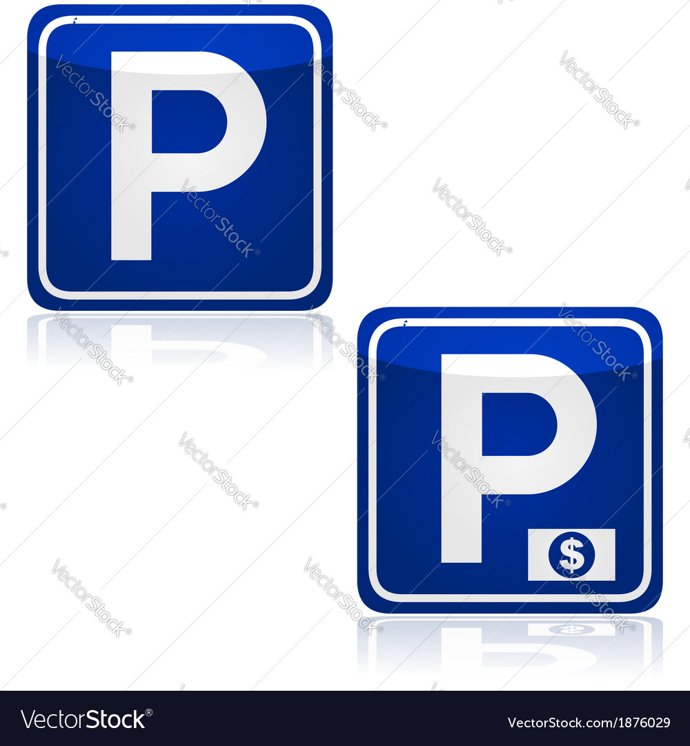 Parking and pay parking vector | Price: 1 Credit (USD $1)