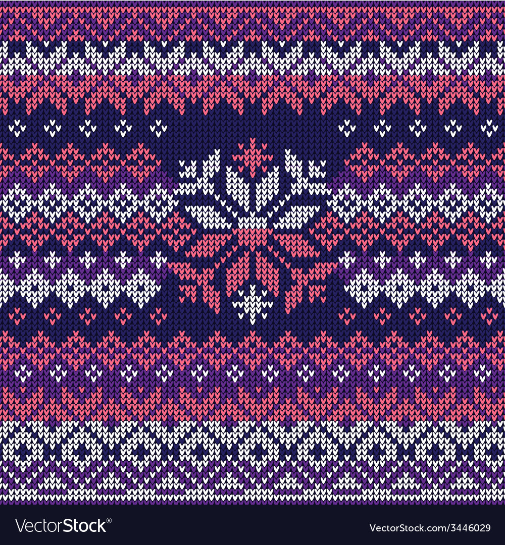 Scandinavian style seamless knitted pattern colors vector | Price: 1 Credit (USD $1)