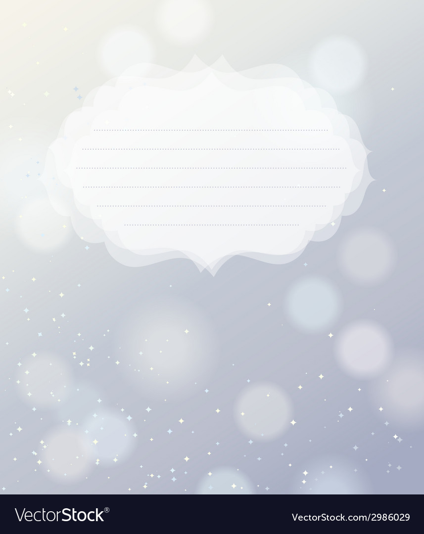 Silver bokeh light background vector | Price: 1 Credit (USD $1)
