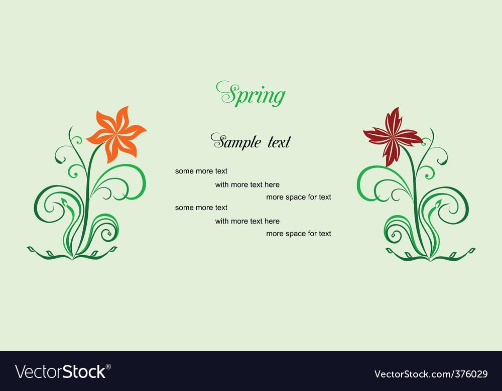 Spring card vector   Price: 1 Credit (USD $1)