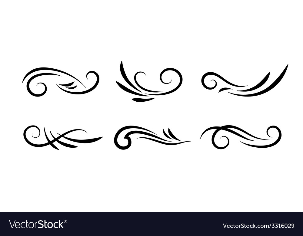 Swirl decoration elements vector
