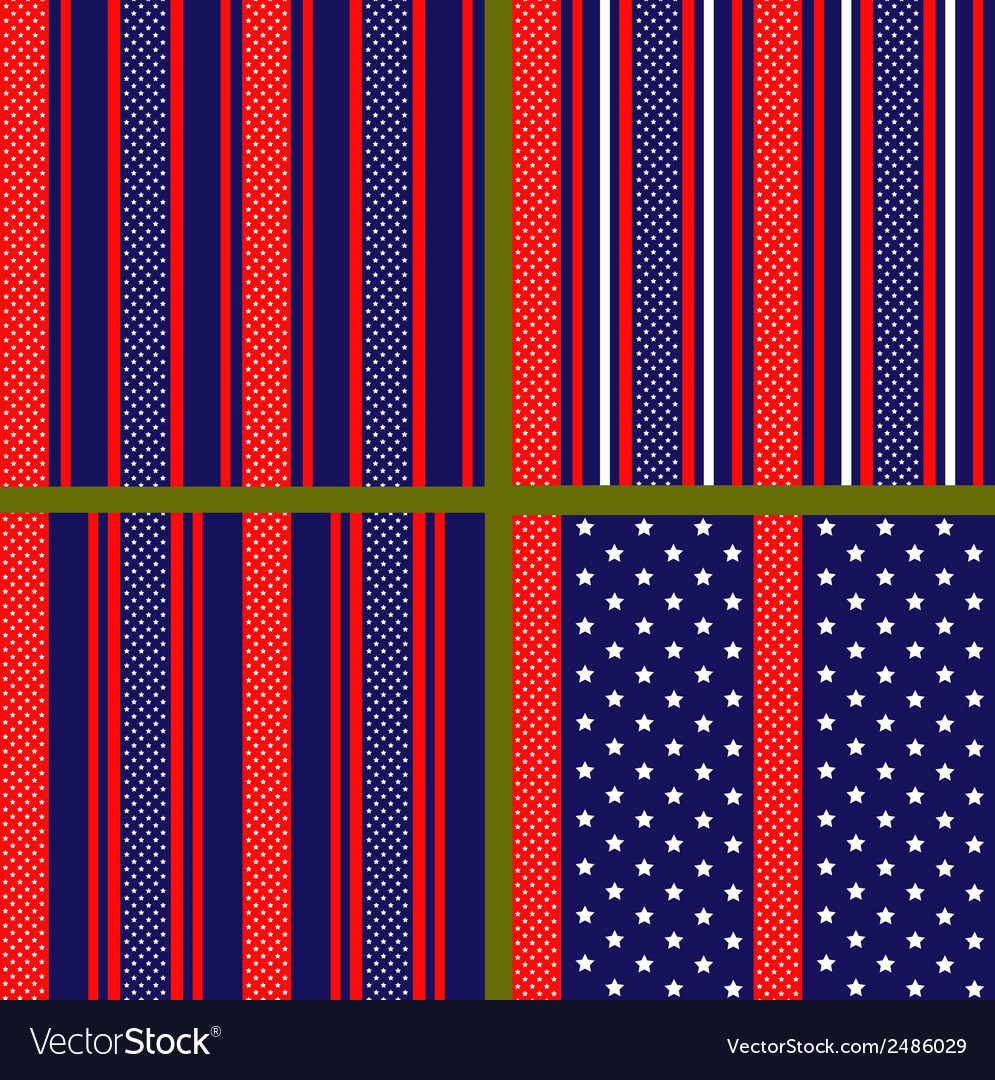 Usa flag stylized pattern vector | Price: 1 Credit (USD $1)