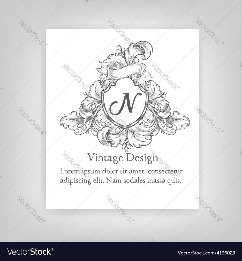 Vintagevintage emblem monogram emblem monogram vector | Price: 1 Credit (USD $1)
