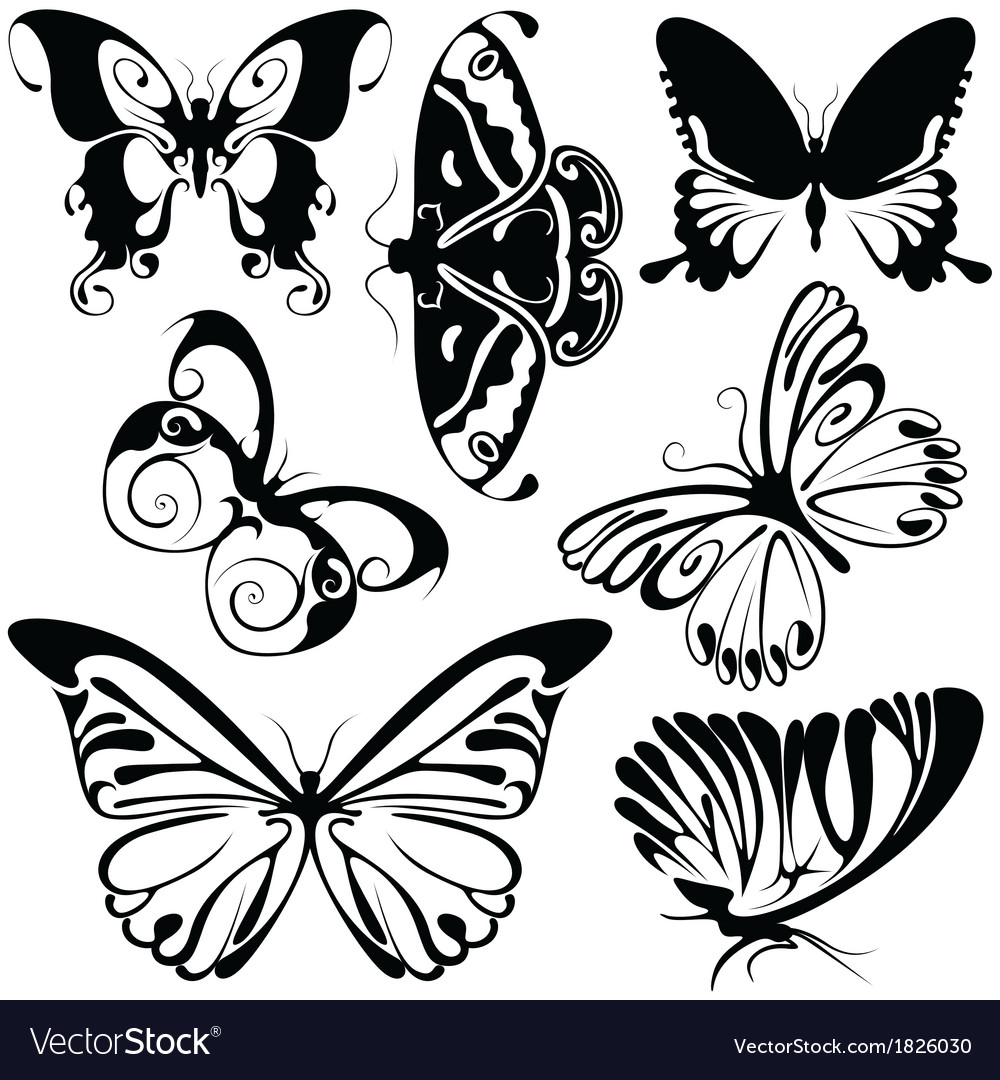 Abstract butterflies vector | Price: 1 Credit (USD $1)