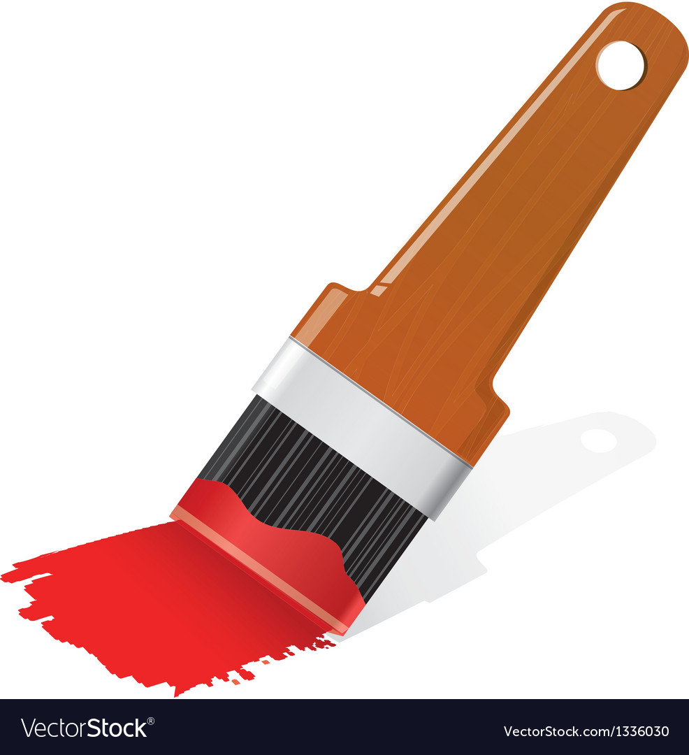 Brush with paint vector   Price: 1 Credit (USD $1)
