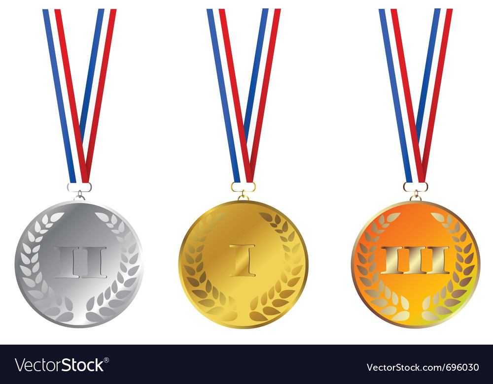 Champions medals vector | Price: 1 Credit (USD $1)