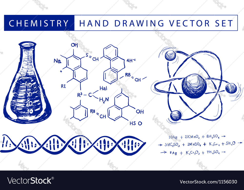 Chemistry hand drawing vector | Price: 1 Credit (USD $1)