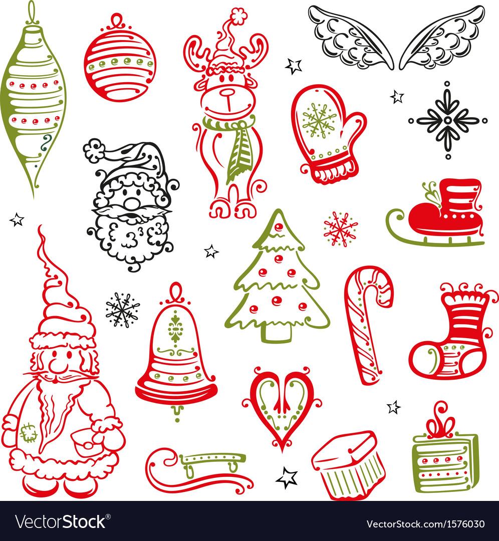 Christmas moose tree vector | Price: 1 Credit (USD $1)