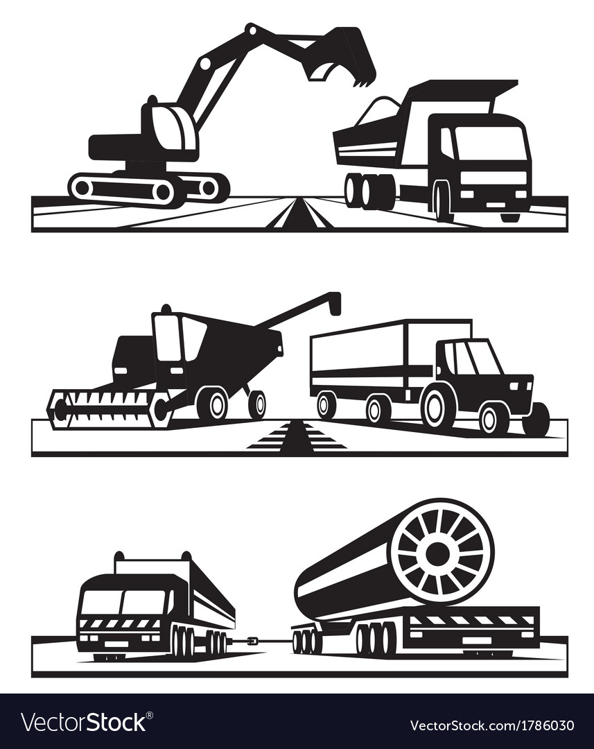 Construction and agricultural transportation vector | Price: 1 Credit (USD $1)